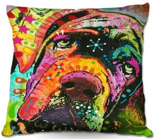 Throw Pillows Decorative Artistic | Dean Russo Ol Droopy Face Mastiff Dog