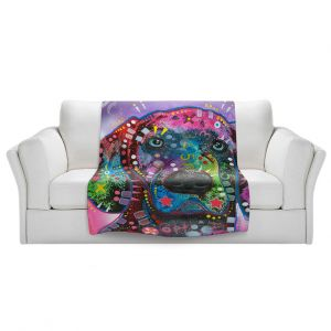 Artistic Sherpa Pile Blankets | Dean Russo - Purple Excitement Great Dane Dog