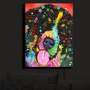 Nightlight Sconce Canvas Light | Dean Russo - Saint Bernard Dog | Dogs Colorful Funky Unique