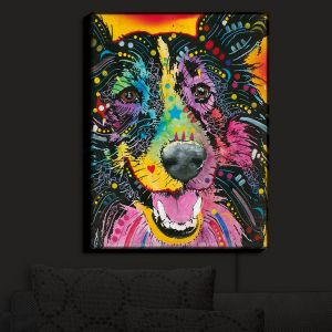 Nightlight Sconce Canvas Light | Dean Russo - Smiling Collie Dog