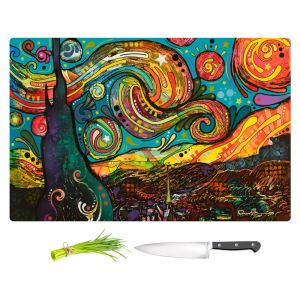 Artistic Kitchen Bar Cutting Boards | Dean Russo - Starry Night