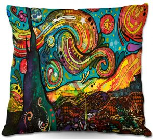 Throw Pillows Decorative Artistic | Dean Russo Starry Night