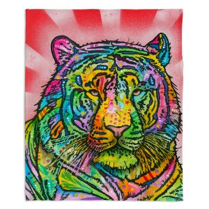 Artistic Sherpa Pile Blankets | Dean Russo Tiger