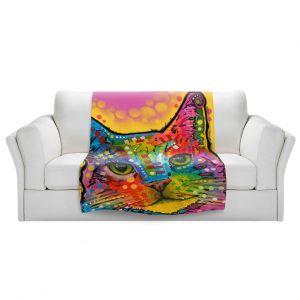 Artistic Sherpa Pile Blankets | Dean Russo - Tilt Cat