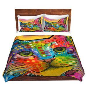Artistic Duvet Covers and Shams Bedding | Dean Russo - Tilt Cat