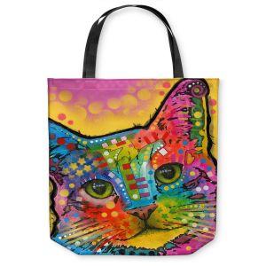 Unique Shoulder Bag Tote Bags | Dean Russo - Tilt Cat
