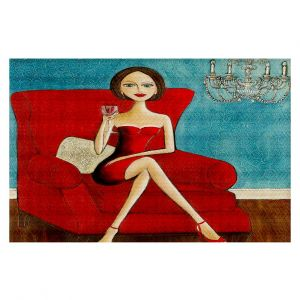 Decorative Floor Coverings | Denise Daffara Little Red Dress