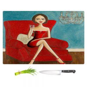 Artistic Kitchen Bar Cutting Boards | Denise Daffara - Little Red Dress