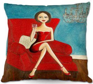 Decorative Outdoor Patio Pillow Cushion | Denise Daffara - Little Red Dress