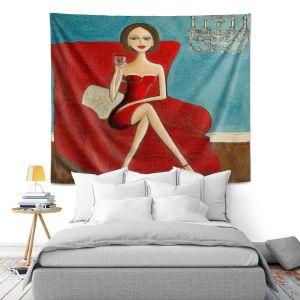 Artistic Wall Tapestry | Denise Daffara Little Red Dress