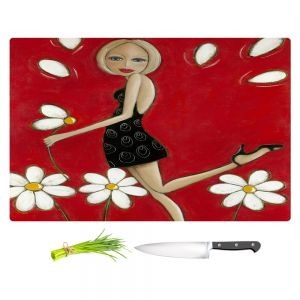 Artistic Kitchen Bar Cutting Boards | Denise Daffara - Loves Me Not Loves Me