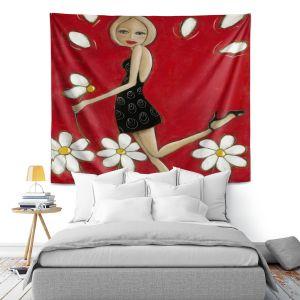 Artistic Wall Tapestry | Denise Daffara Loves Me Not Loves Me