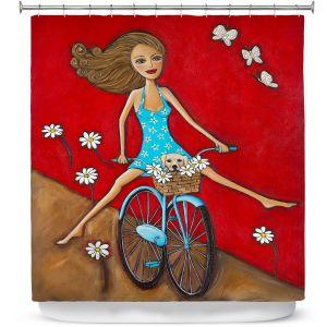 Premium Shower Curtains | Denise Daffara One Fun Spring Day