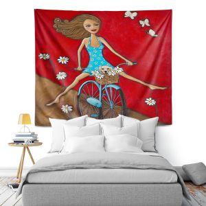 Artistic Wall Tapestry | Denise Daffara One Fun Spring Day