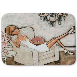 Decorative Bathroom Mats | Denise Daffara - Pink Lily