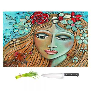 Artistic Kitchen Bar Cutting Boards | Denise Daffara - Whispers On A Summers Breeze