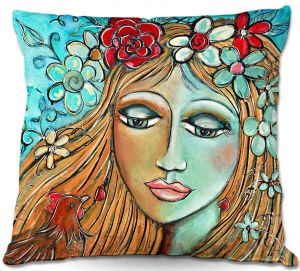 Throw Pillows Decorative Artistic | Denise Daffara's Whispers On A Summers Breeze