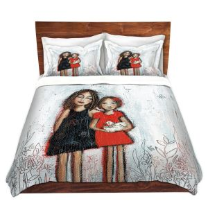 Artistic Duvet Covers and Shams Bedding | Denise Daffara - Couldnt Love Her More | Mom and Daughter