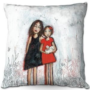 Throw Pillows Decorative Artistic | Denise Daffara - Couldnt Love Her More | Mom and Daughter