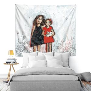 Artistic Wall Tapestry | Denise Daffara - Couldnt Love Her More | Mom and Daughter