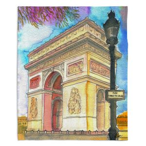 Decorative Fleece Throw Blankets | Diana Evans - Arc de Triomphe