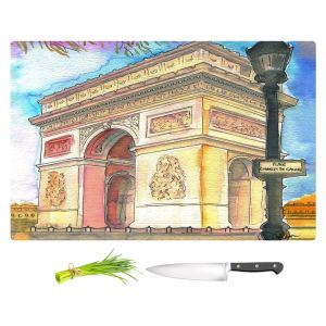Artistic Kitchen Bar Cutting Boards | Diana Evans - Arc de Triomphe