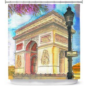 Premium Shower Curtains | Diana Evans Arc de Triomphe