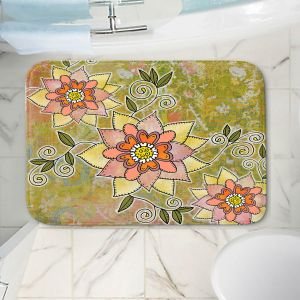 Decorative Bathroom Mats | Diana Evans - Floral | flower mandala pattern simple