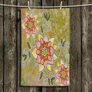 Unique Bathroom Towels | Diana Evans - Floral | flower mandala pattern simple