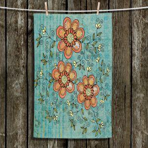 Unique Hanging Tea Towels | Diana Evans - Florals Mixed | flower pattern simple