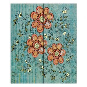 Decorative Wood Plank Wall Art   Diana Evans - Florals Mixed   flower pattern simple