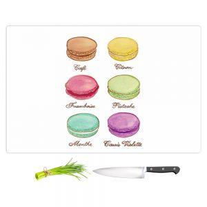 Artistic Kitchen Bar Cutting Boards | Diana Evans - Laduree Macaroons I