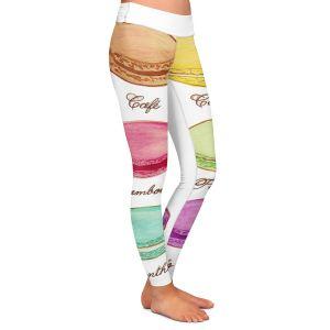 Casual Comfortable Leggings | Diana Evans Laduree Macaroons I