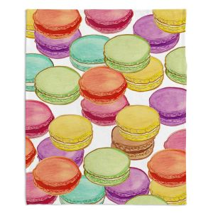 Decorative Fleece Throw Blankets | Diana Evans - Laduree Macaroons II