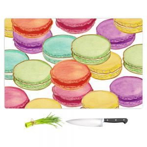 Artistic Kitchen Bar Cutting Boards | Diana Evans - Laduree Macaroons II