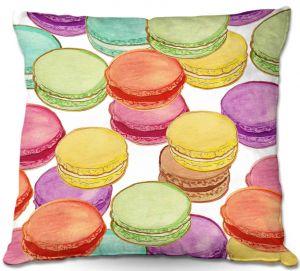 Throw Pillows Decorative Artistic | Diana Evans Laduree Macaroons II