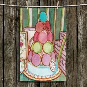 Unique Hanging Tea Towels | Diana Evans - Laduree Window Shopping II | French Shopping Presents
