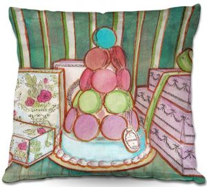 Decorative Outdoor Patio Pillow Cushion | Diana Evans - Laduree Window Shopping II