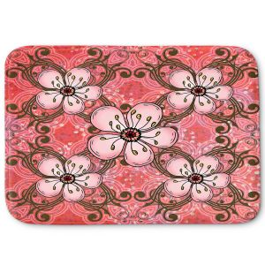 Decorative Bathroom Mats | Diana Evans - Pretty in Pink 2 | flower pattern simple