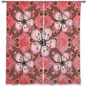 Decorative Window Treatments | Diana Evans - Pretty in Pink 2 | flower pattern simple