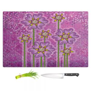Artistic Kitchen Bar Cutting Boards   Diana Evans - Purple Floral   flower simple