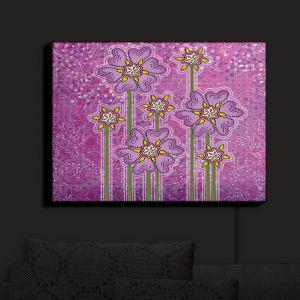 Nightlight Sconce Canvas Light | Diana Evans - Purple Floral | flower simple