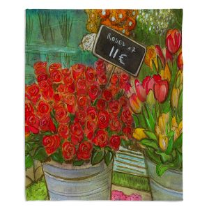 Decorative Fleece Throw Blankets | Diana Evans - The Paris Flower Shop
