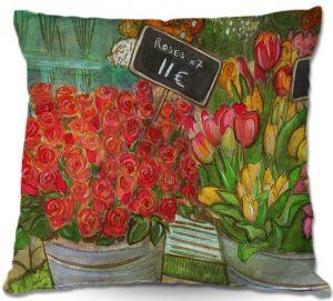 Throw Pillows Decorative Artistic | Diana Evans The Paris Flower Shop