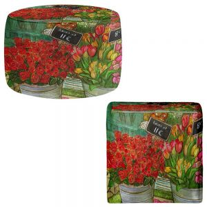 Round and Square Ottoman Foot Stools | Diana Evans - The Paris Flower Shop
