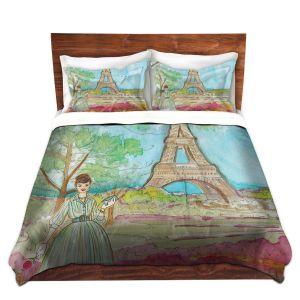 Artistic Duvet Covers and Shams Bedding | Diana Evans - Vintage Paris