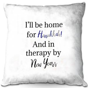 Decorative Outdoor Patio Pillow Cushion | DiaNoche Art - Hanukkah Holiday | Inspiring quotes