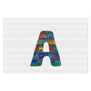 Decorative Floor Coverings | Dora Ficher Alphabet Letter A