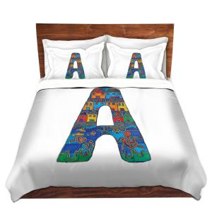 Artistic Duvet Covers and Shams Bedding | Dora Ficher - Alphabet Letter A