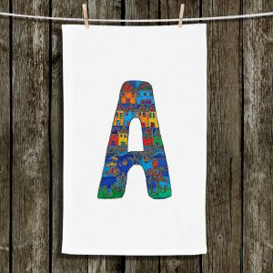 Unique Bathroom Towels | Dora Ficher - Alphabet Letter A